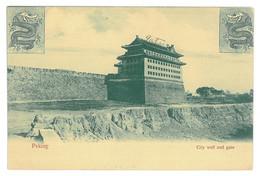 CH 34 - 14524 PEKING, China, City Wall And Gate - Old Postcard - Unused - China