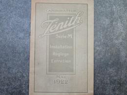 CARBURATEUR ZENITH Série M - Installation-Réglage-Entretien (16 Pages) - Voitures