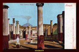 1901 Italy Postcard Pompei Olconio House And Vesuvius Unused - Pompei