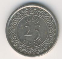 SURINAME 1989: 25 Cents, KM 14 - Suriname 1975 - ...