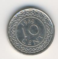 SURINAME 1989: 10 Cents, KM 13a - Surinam 1975 - ...