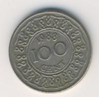 SURINAME 1988: 100 Cents, KM 23 - Surinam 1975 - ...