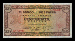 España Spain 50 Pesetas Burgos 1938 Pick 112 Serie D EBC XF - [ 3] 1936-1975 : Regime Di Franco