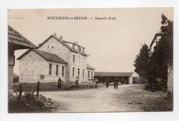 - CPA MOUTHIERS-EN-BRESSE (71) - Nouvelle Ecole 1919 (avec Personnages) - Edition Vivien - - Otros Municipios