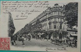 Paris - Théatre Du Vaudeville - Statues
