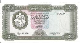 LIBYE 5 DINARS ND1972 VF++ P 36 B - Libya
