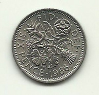 1966 - Gran Bretagna 6 Pence - Altri