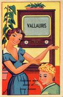 VALLAURIS - CARTE A SYSTEME 10 VUES - TELEVISION - Móviles (animadas)