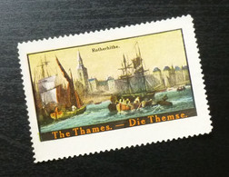 Germany Poster Stamp England Gb Uk Rotherhite Thames Ship Boat Navy B1 - Erinnofilia