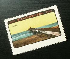 Germany Poster Stamp Belgium Blankenberge Port Dock B3 - Erinnofilia