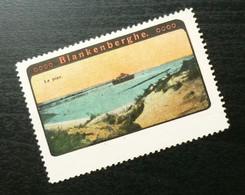 Germany Poster Stamp Belgium Blankenberge Port Dock Beach Ship Boat B4 - Erinnofilia