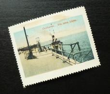 Germany Poster Stamp Deutschland Cuxaven Port Ship Boat Navy Dock B7 - Erinnofilia