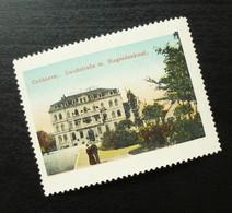 Germany Poster Stamp Deutschland Cuxaven Deich Street Monument Hotel B9 - Erinnofilia