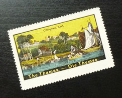 Germany Poster Stamp England Gb Uk Thames Gillingham Kent Ship Boat B11 - Erinnofilia