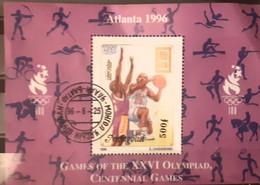 Mongolia 1996   Sport Olympic,,  Baketball Centenary Of Olympic 1896-1996   Used - Mongolia