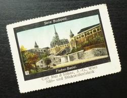 Germany Poster Stamp Hungary Budapest Fischer Bastei Castle B12 - Erinnofilia