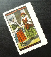 Germany Poster Stamp Hungary National Costume B16 - Erinnofilia