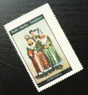 Germany Poster Stamp Lower Franconia Bavaria National Costume B17 - Erinnofilia