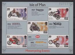 Ile De Man - BF N°21 - Motos - Cote 8€ - ** Neuf Sans Charniere - Man (Insel)