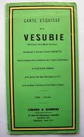 Carte Géographique - Carte-Esquisse De La Vésubie ( Peira-Cava, Saint-Martin-Vésubie) 1961 Girard Et Barrère - Paschetta - Geographical Maps