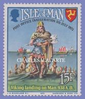 ISLE OF MAN 1973  POSTAL INDEPENDENCE VIKING WARRIOR  WHITE GUM  S.G. 34  U.M. - Man (Insel)