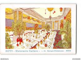 CPA 06 Nice Biffi Ristorante Italiano Avenue Georges Clemenceau - Cafés, Hotels, Restaurants