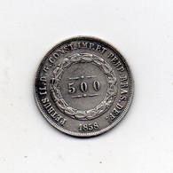 Brasile - 1858 - 500 Reis - Argento - (FDC24884) - Brasile