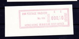 Atm  Frama Vending Vignettes Meter Distributeur China Hongkong  Hong Kong  Mint Mnh Postfrisch  Please Look Scan - 1997-... Chinese Admnistrative Region