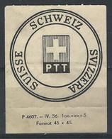 WW-/-1027. YVERT - ETQUETTE DE SECURITE DES PTT.,  IMAGE DU VERSO SUR DEMANDE - Postmark Collection