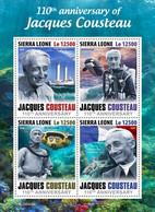 SIERRA LEONE 2020 - J. Cousteau, Diving. Official Issue [SRL200409a] - Tauchen