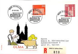 [904270]B/TB//-Suisse 1980 - ST.GALLEN, Eglises Et Cathédrale - FDC
