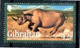 GIBRALTAR 2011** - Rinoceronte Nero / Black Rhinoceros - 1 Val. MNH. - Rhinoceros