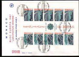 Monaco, Enveloppe FDC EUROPA 1987 - FDC