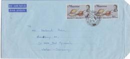 MAURITIUS - BUSTA VIAGGIATA PAR AVION  - VIAGGIATA PER Bad Pyrmont - GERMANIA - Mauritius (1968-...)