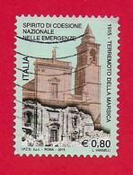 ITALIA REPUBBLICA USATO - 2015 - Centenario Del Terremoto Della Marsica - € 0,80 - S. 3545 - 2011-...: Afgestempeld