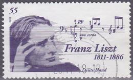 Deutschland 2011. Franz Liszt, Mi 2846 Gebraucht - Music