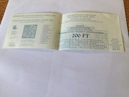 1 Billet D'entrée Au Musée Des Beaux-Arts De Budapest (Hongrie) - Eintrittskarten