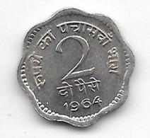 *india  2 Paisa 1964 C Km 12    Unc/ms63 - India