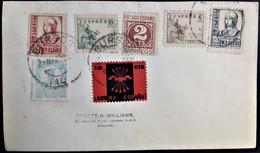 484 SPAIN ESPAÑA ESPAGNE SPANIEN GUERRA CIVIL WAR BURGOS 1937 COVER FALANGE - 1931-50 Lettres