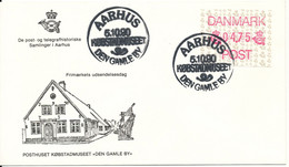 Denmark FDC 5-10-1990 Frama Label ATM 4.75 Postmark Aarhus - ATM - Frama (vignette)