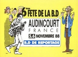 Carte Postale - BD - 6e Fête De La BD - Audincourt - 1988 - Edmond BAUDOIN & Bob De MOOR - ( CP58 ) - Postcards