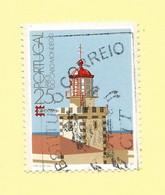 TIMBRES - STAMPS - BRIEFMARKEN - FRANCOBOLLI - SELLOS - MARCOPHILIE - PORTUGAL - PHARE CABLE MONDEGO - TIMBRE OBLITÉRÉ - Lighthouses