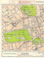 """LONDRES - PLAN De """"CENTRAL LONDON"""" (PLAN De La VILLE Et Du MÉTRO) - Maps"""