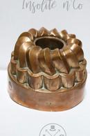 Antique Victorian Copper Tin Jelly Baking Mold Numbered - Moule Cuivre étamé Pour Gâteaux XIXème - Koper