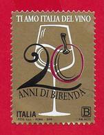 ITALIA REPUBBLICA USATO 2019 - 20º Anniversario Della Fondazione Della Guida Bibenda - B (1,10€) - S. ---- - 2011-...: Used