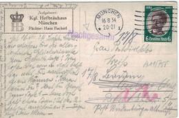 Gustav Nachtigal - München 1934 Nachgesandt - Rs: Künstlerkarte Kgl. Hofbräuhaus - Maschinenstempel - Germany