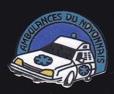 66859- Pin's. Médical.Santé.Ambulances Du Noyonnais à Ribécourt Dreslincourt Taxis Ambulance - Geneeskunde