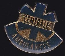 66877- Pin's. Médical.Santé.Centrale Ambulances à Cormontreuil - Geneeskunde