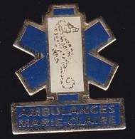 66882- Pin's. Médical.Santé.Marie-Claire, Ambulancier Sur La Teste-de-buch.Hippocampe. - Geneeskunde