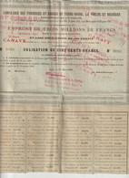 ACTION  Cie.DES FONDERIES ET FORGES DE TERRE NOIRE / LA VOULTE BESSEGES / 1890 - Autres